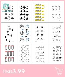 Bonito e Carta Desenho de Tatuagem Temporária