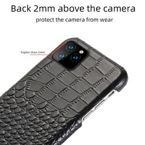 Image 5 - LANGSIDI جلدية الهاتف حالة ل فون 11 برو ماكس SE 2020 الفاخرة جلد طبيعي غطاء ل فون 12 الموالية XS ماكس XR X 7 8 زائد