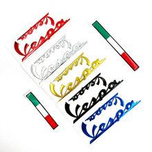 3D włoski odznaka naklejka z logo naklejka zestaw dla PIAGGIO Vespa GTS300 LX125 LX150 125 150 ie Sprint Primavera 300 LX LXV naklejki tanie tanio TTqpee Rubber Decor 0 3cm 15cm