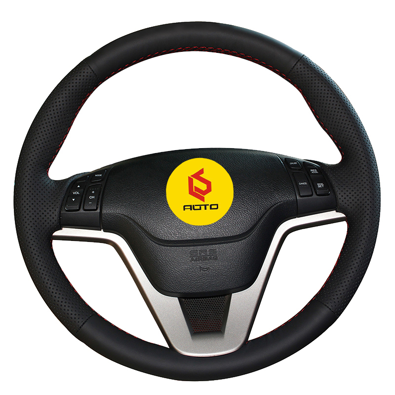 Braid on the Steering Wheel Cover for <font><b>Honda</b></font> CRV <font><b>CR</b></font>-<font><b>V</b></font> <font><b>2007</b></font> <font><b>2008</b></font> <font><b>2009</b></font> <font><b>2010</b></font> 2011 steering wheel case car accessories car styling image