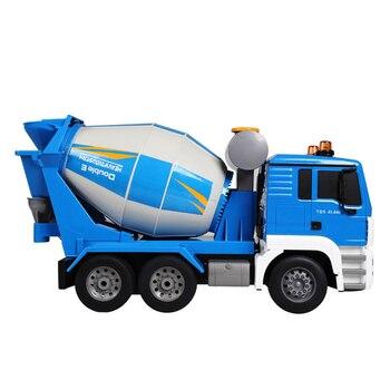 Luces De Camiones Rc   40CM 1:20 RC Camión Simulación 2,4 Ghz Control Remoto Eléctrico Ingeniería Cemento Mezclador Radio Control Juguetes Con Luz Y Voz