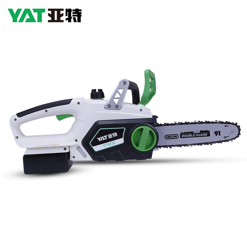 YAT 18V Cordless Chain Saw DC 2.5AH Lithium Wireless Chainsaw for DIY Electric Saw Brushless Motor 2500RPM 2.5H Charging Time