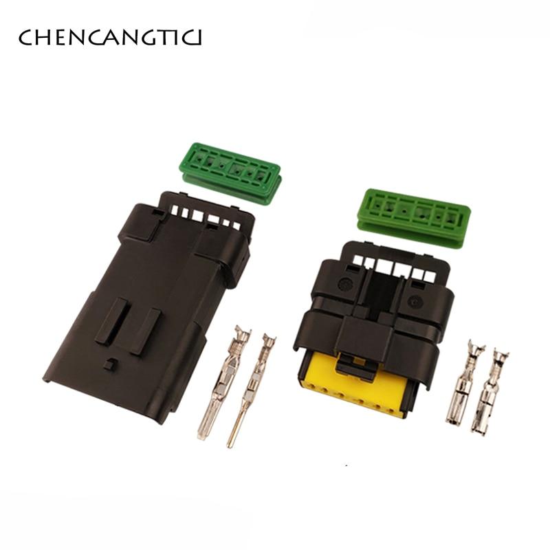 Conector de Sensor de luz de giro para coche, Conector de 6 pines para lámpara de giro, enchufe macho y hembra, 211PL069S0049 211 PL069S0049, 2 juegos