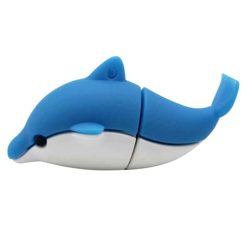 TEXT ME Lovely Mini Dolphin  USB Flash Drive Cute Animal Pen Drive Cartoon Pendrives U Disk