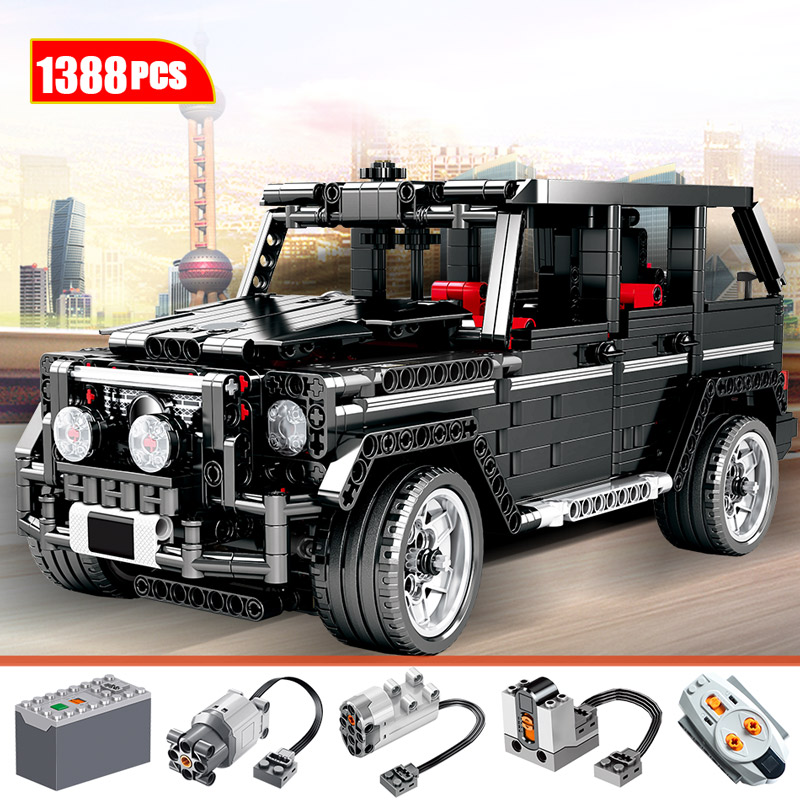 1388pcs City Creator AWD Wagon Car Model Building Blocks For Legoingly Technic RC Car SUV MOV Bricks Education Toys For Children image