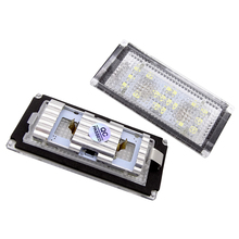 JIUWAN 2Pcs/Set Error Free 18 LED Number License Plate Light For BMW E66 E65 7-Series 735i 2006-2008 White 12V