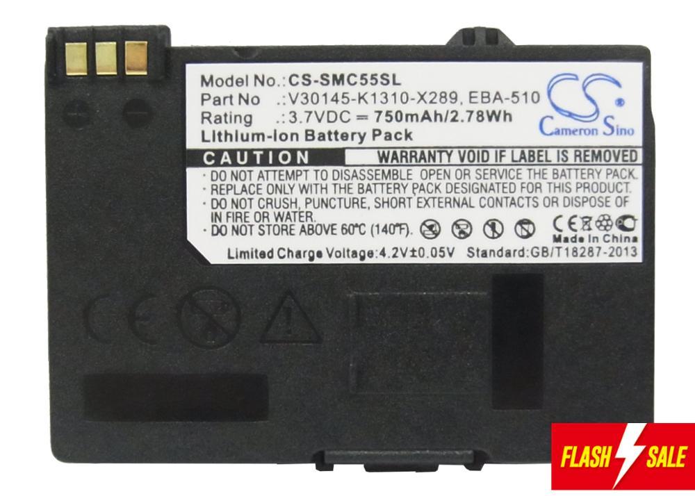 Upgrade! Cameron Sino 750mAh Battery EBA-510 For Siemens A51, A52, A55, A56,A57,A60,A62,A65,A75,C55,C56,C60,C61,C70, C71,A70