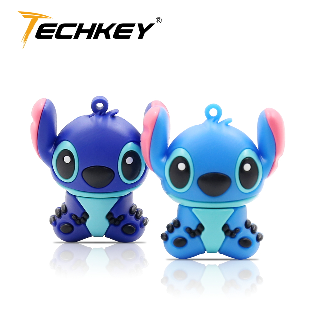 Cute Pendrive 32gb 16gb 8gb флешка Stich Memory Stick Animal Usb Flash Drive 64GB High Quality 2.0 U-disk Lovey Usb Stick