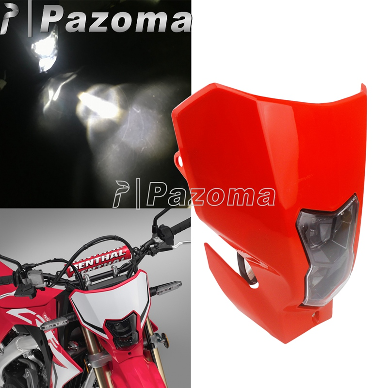2020 Redmoto LED Headlight 2019 Supermoto Enduro Racing Head Lamp Light Mask for Honda CRF250L RX CRF450L RX CRF300RX CRF400RX
