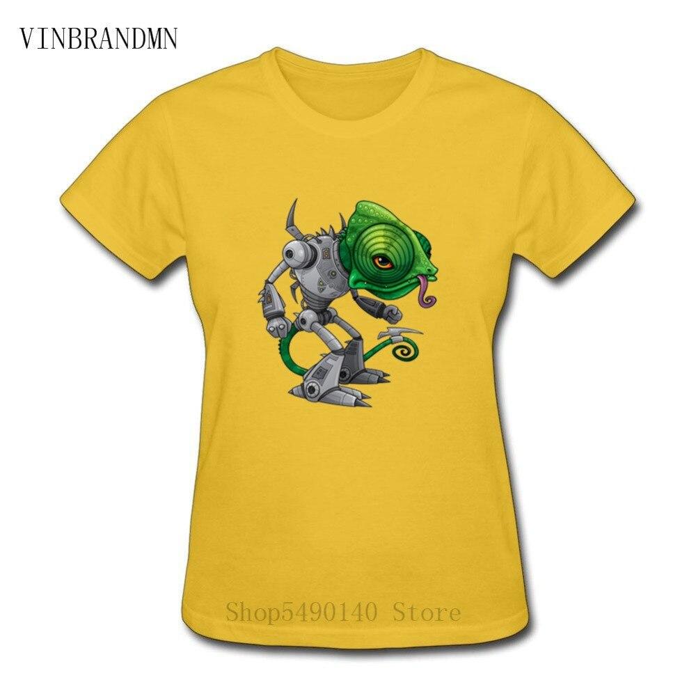 Steampunk Chameleon Lizard Robot T Shirt Chameleozoid Fun Gift Tees New Fashion Animal Brand Tshirt High Quality Printed T-Shirt