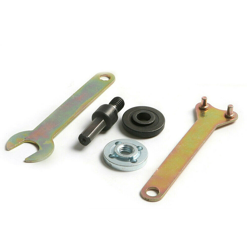 Handles+ Connecting Rods Drill Angle Grinder Mandrel Adapter Wrench Kit