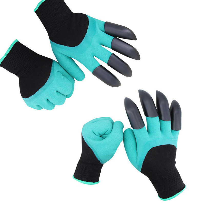 1 Pairs Garden Genie Gloves With Fingertips Claws On Each Hand For Digging And Planting Rose Pruning Women & Men Gloves