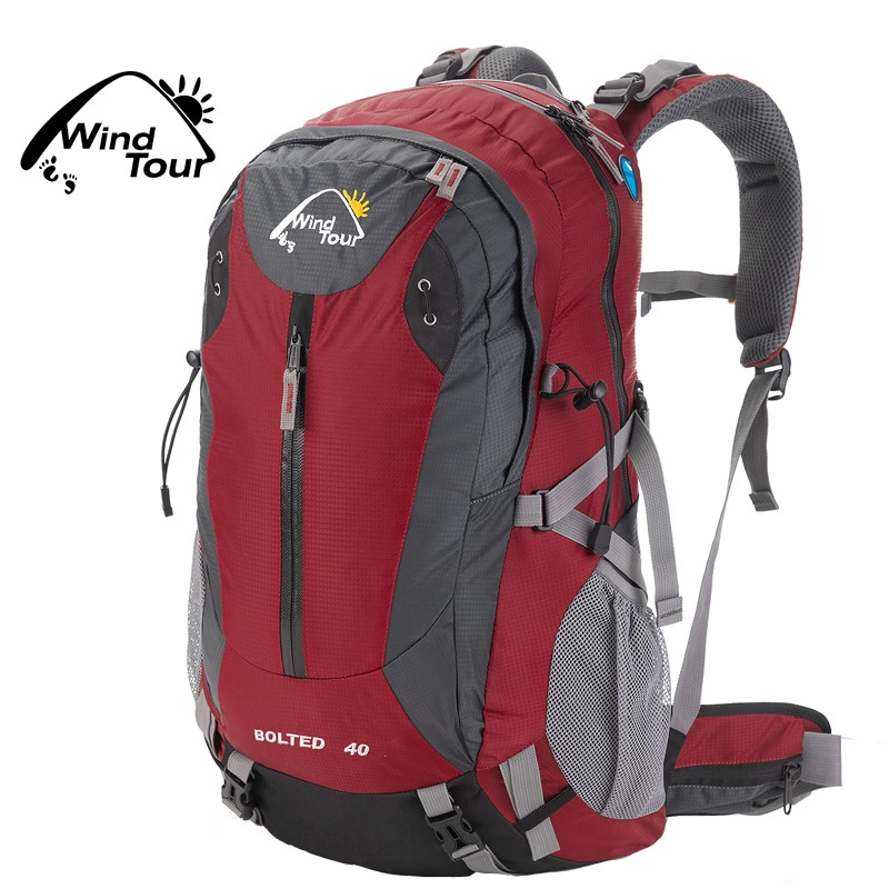 Wind Tour Outdoor Backpack 40L Mountaineering Bag/Backpack Comes With Rain Cover