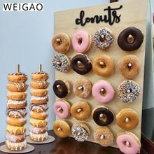 โดนัทไม้ติดผนัง Donut ผู้ถือฝักบัวเด็กวันเกิด PARTY Decor โดนัทตกแต่งงานแต่งงาน PARTY Supplies