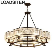 Hang Light Nordic Crystal Pendant Lustre E Pendente Para Sala De Jantar Deco Maison Luminaria Suspension Luminaire Hanging Lamp
