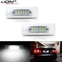 IJDM Auto weiß LED Lizenz Nummer Platte Lichter Lampe Für VW Transporter T5 Multivan Caravelle Eurovan Passat Caddy Touran Golf