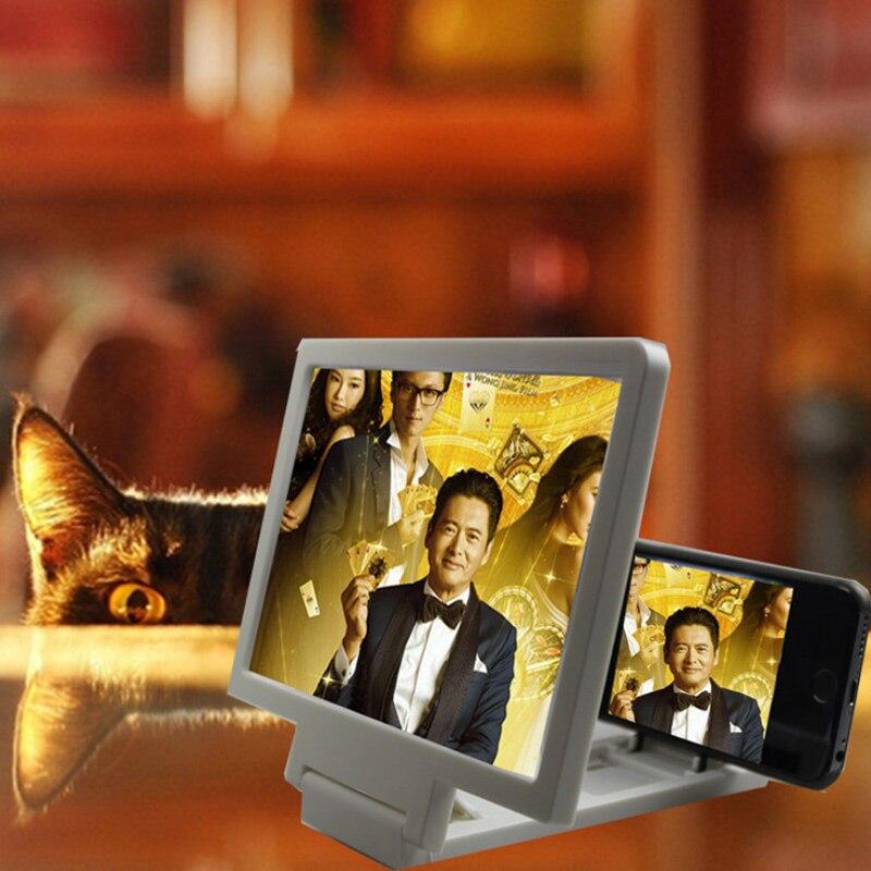 3d 전화 돋보기 화면 모바일 비디오 태블릿 홀더 확대 확장기 스탠드 영화 비디오 돋보기 모바일 브래킷 휴대용 스탠드