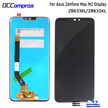 For Asus Zenfone Max M2 LCD Display Touch Screen Digitizer Assembly For Zenfone Max M2 ZB633KL ZB632KL Screen LCD Display original 5 5 for asus zenfone 4 max zc554kl lcd display touch screen digitizer replacement parts zenfone 4 max zc554kl x001d