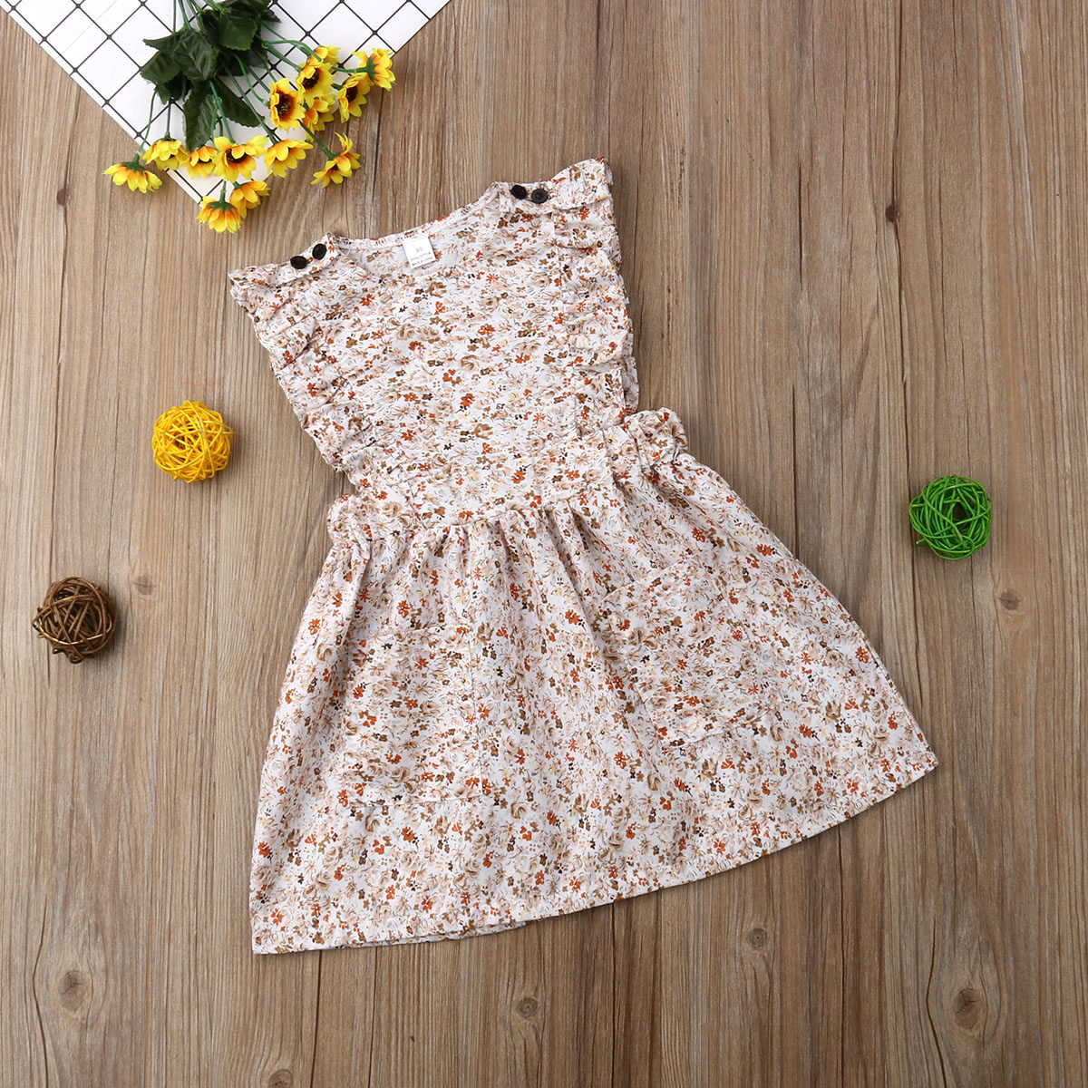 Pudcoco Summer Little Sister Baby Romper Jumsuit Girl Kid Big Sister Dresses Floral Clothes Family Matching Outfits