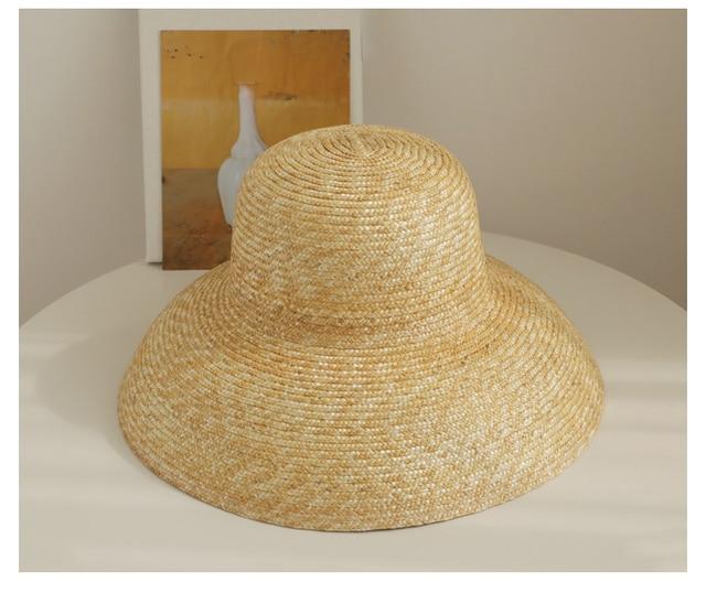 Vintage French Hepburn Mesh Primary Color Straw Hat Sun Seaside Beach Hat Female Summer Big Sun Cap Handmade High Quality Match Women S Sun Hats Aliexpress