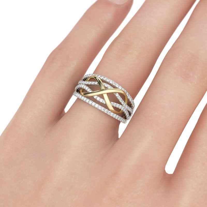CC แหวนสำหรับผู้หญิงเครื่องประดับ Cubic Zirconia เรขาคณิตแหวนอุปกรณ์เสริมแหวนเงิน 925 mens