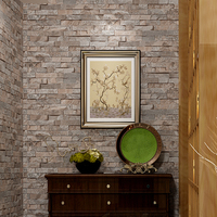 3d Wallpaper Brick Vintage For Living Room,shop Decor Imitation Stone Grain Wall Paper Waterproof Pvc Papel De Parede Tijolo