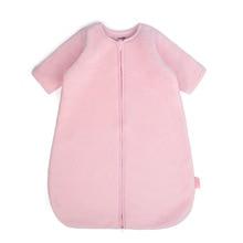 Coral Velvet Baby Sleeping Bag Removable Sleeve Sleepsack For Kids Winter Warm Baby Sleep Sacks Anti Kick Quilt Newborn Swaddle