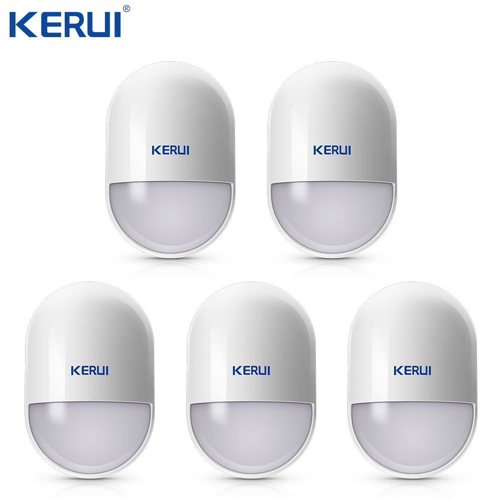 5pcs Kerui P829 Intelligent Wireless PIR Motion Sensor Anti-tamper Detector For Home Security Voice Alarm System