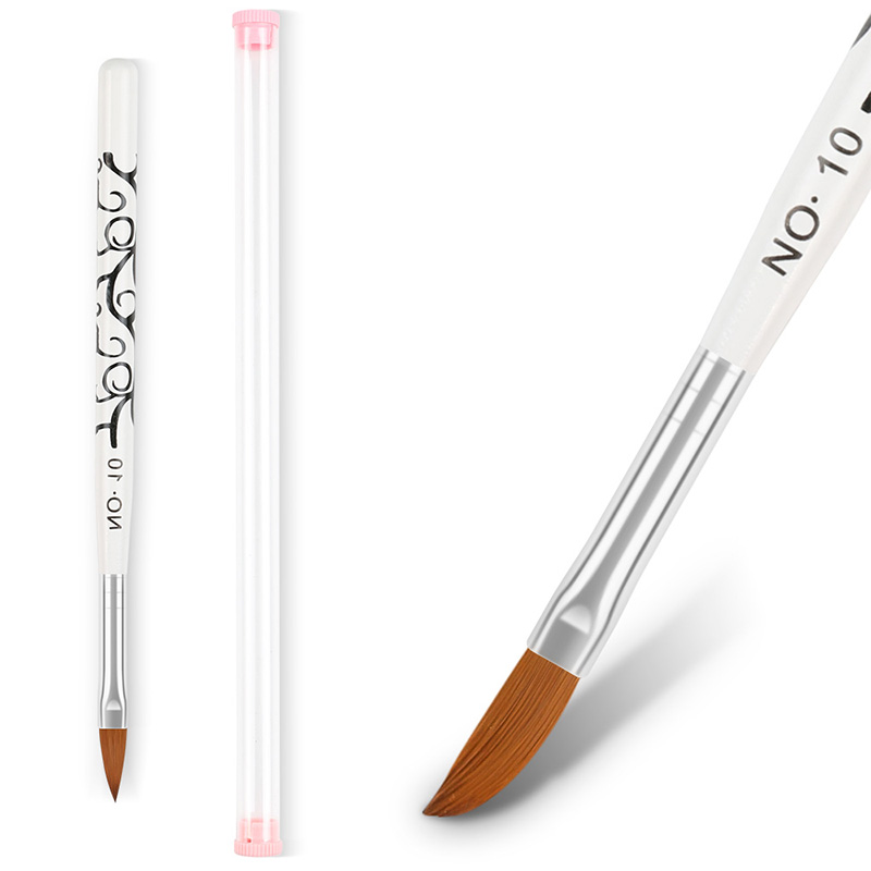 5 Sizes Tip Nail Brush White Black Handle Shape Acrylic Painting Drawing Pen Manicure Nail Art Tool