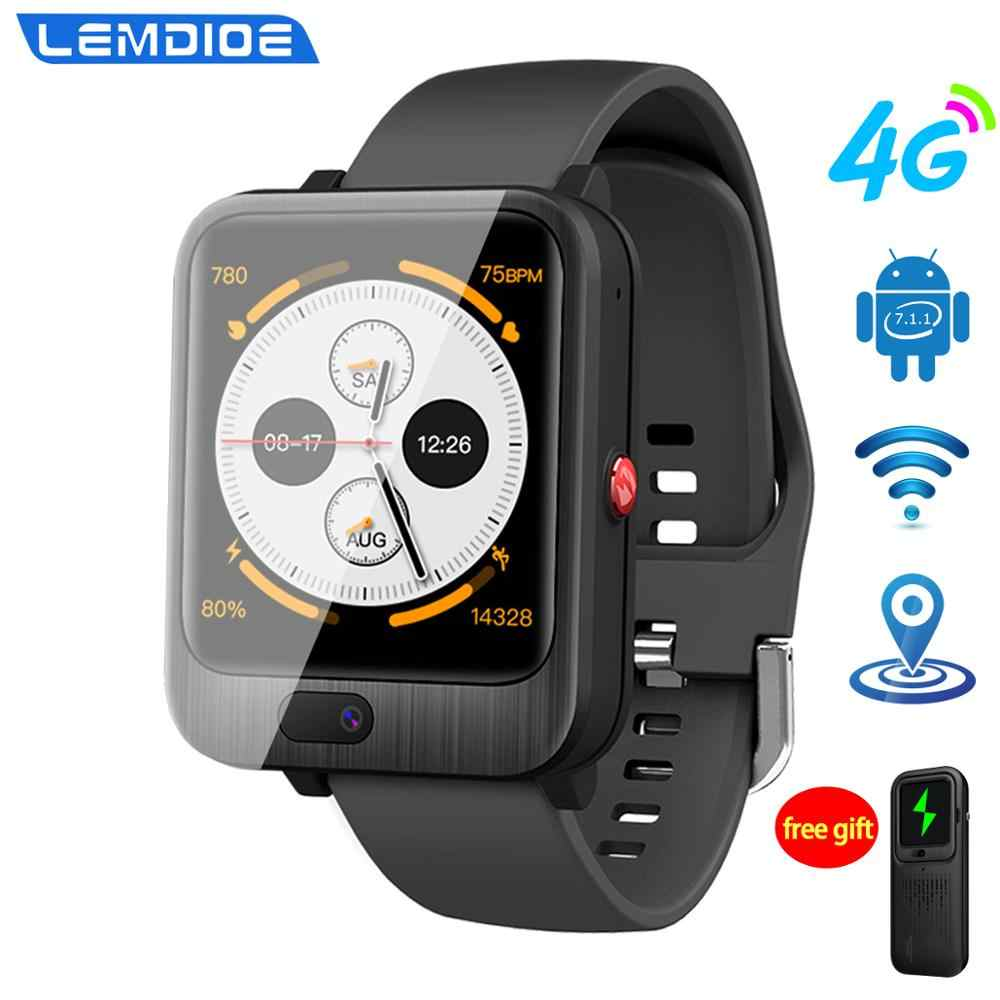 LEM11 4G montre intelligente Android 7.1 3GB 32GB avec carte Sim 1200mah batterie externe sans fil Bluetooth haut-parleur sangle remplaçable
