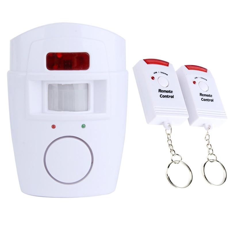Home Security Motion Sensor Alarm IR Infrared Alarm Motion Sensor Detector With 2 Wireless Remote Control Smart Body Sensor