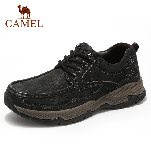 CAMEL Mens Shoes New Genuine Leather Casual Shoes Men Tooling Outdoor Big Leisure Fold resistant Cowhide Non slip Male Footwear