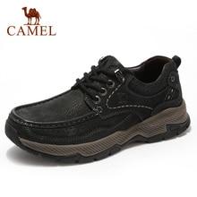 CAMEL męskie buty nowe oryginalne skórzane buty w stylu casual mężczyzn oprzyrządowanie na zewnątrz Big rozrywka składane odporne na skóry wołowej antypoślizgowe męskie obuwie