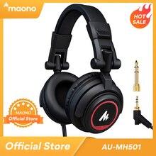 מקצועי סטודיו צג אוזניות על אוזן עם 50mm נהג MAONO AU MH501