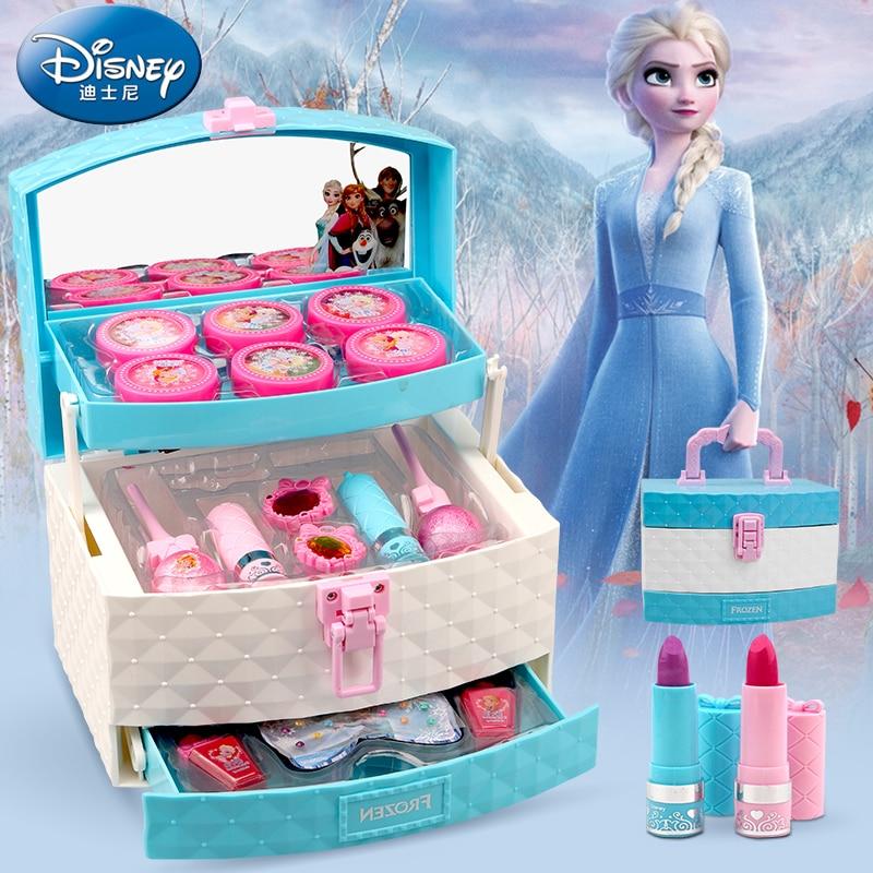 Bobby Children Cosmetics Princess Makeup Box Set Girl Lipstick Eyeshadow Fingertips Suitcase Toys For Children Gift Pretend Play