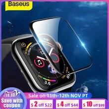 Baseus 0.2Mm Zachte Gehard Glas Voor Iwatch 4 40 44Mm 3D Gebogen Volledige Cover Screen Protector Film Voor iwatch 3 2 1 38 42Mm Glas