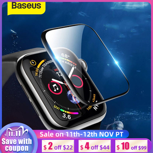 Image 1 - Baseus 0.2mm Soft Tempered Glass For iWatch 4 40 44mm 3D Curved Full Cover Screen Protector Film For iWatch 3 2 1 38 42mm Glass