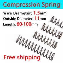 Compressed Spring Return Spring Pressure Spring Release Spring Factory Spot Wire Diameter 1.5mm Outer Diameter 11mm