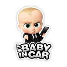 B0173 Self adhesive Decal Baby in Car V2 Boy Car Sticker Waterproof Auto Decors on Bumper Rear Window