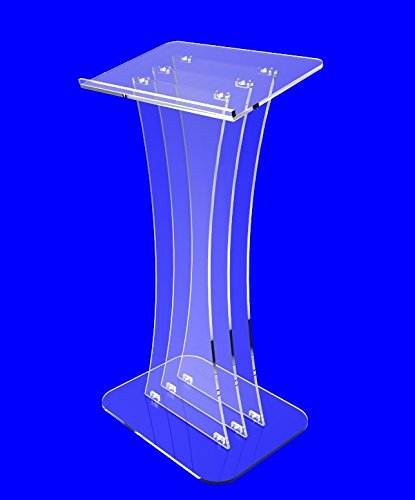 Fixture Displays Clear Acrylic Lucite Podium Pulpit Lectern Custom Logo Plexiglass