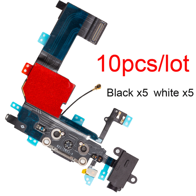 """10pcs/lot USB Charging Port Dock Connector Flex For iphone 5 5s SE 2020 6 6s 7 8 plus 4.7""""&5.5"""" X XR XS MAX With Mic Repair Part"""