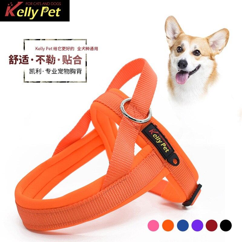 Dog Hand Holding Rope Anti-Break Free Large Dogs Medium Vest Style Suspender Strap Chest Suspender Strap Nursing Husky Law Bucke