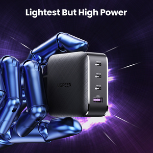 Image 2 - Ugreen cargador GaN USB tipo C para Apple MacBook Air, iPad Pro, Samsung, tableta, Cargador rápido para Nintendo Switch, 65W