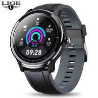 LIGE 2019 nuevo reloj inteligente LCD redondo completo de 1,3 ''para hombres IP68 impermeable para iPhone/Android Fitness tracker reloj inteligente para hombres y mujeres