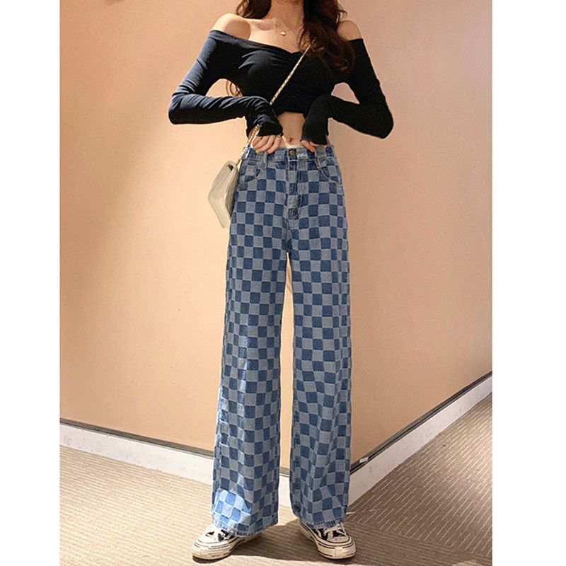JUJULAND Women High Waist Jeans Woman Boyfriend Wide Leg Jeans Summer Plus Size Gothic Denim Mom Jeans Korean Wide Pants 1003