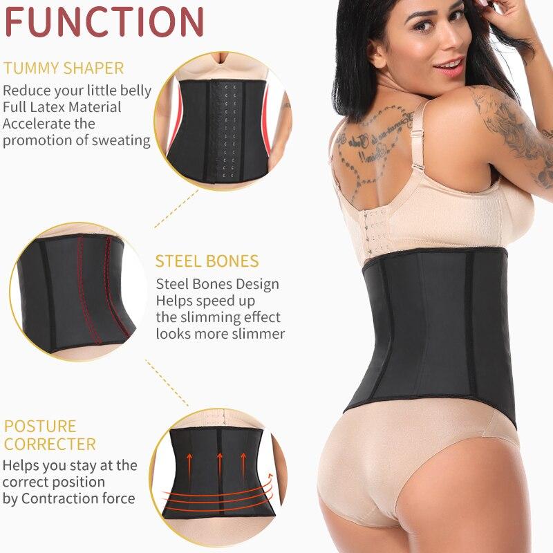 Image 3 - Shapewear Latex Waist Trainer Belt Slimming Waist Cincher Body Shaper Tummy Trimmer Long Torso Girdle Corset Modeling Strap-in Waist Cinchers from Underwear & Sleepwears