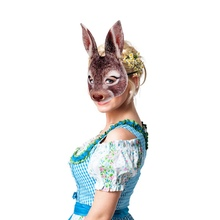 Halloween Animal EVA 3D Party Bunny Ears Rabbit Mask Black And White Adult Anime Face Cosplay Masquerade Cosplay CostumeCM eva half face rabbit cosplay halloween masquerade masks halloween bunny adult party mask new year mask cosplay costume supplies
