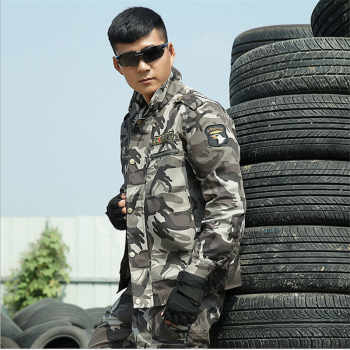 New Spring Autumn Men\'s Tactical Army Military uniform combat jackets+ pant suit Outside CS Military Training 4XL Free Shipping
