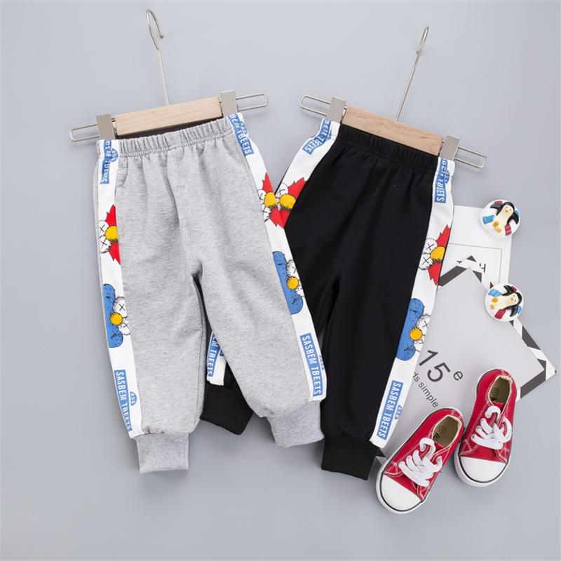 Kids Pants 2020 Spring And Autumn Fashion Children Printing Pants Boys Girls Trousers Girl Leggings Children Long Pants 0-4 Yeas