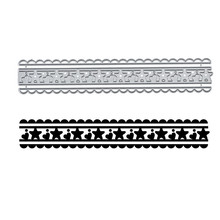 YaMinSanNiO Star and Heart Dies Lace Frame Metal Cutting for Card Making Scrapbooking Embossing Stencil Crafts 2019